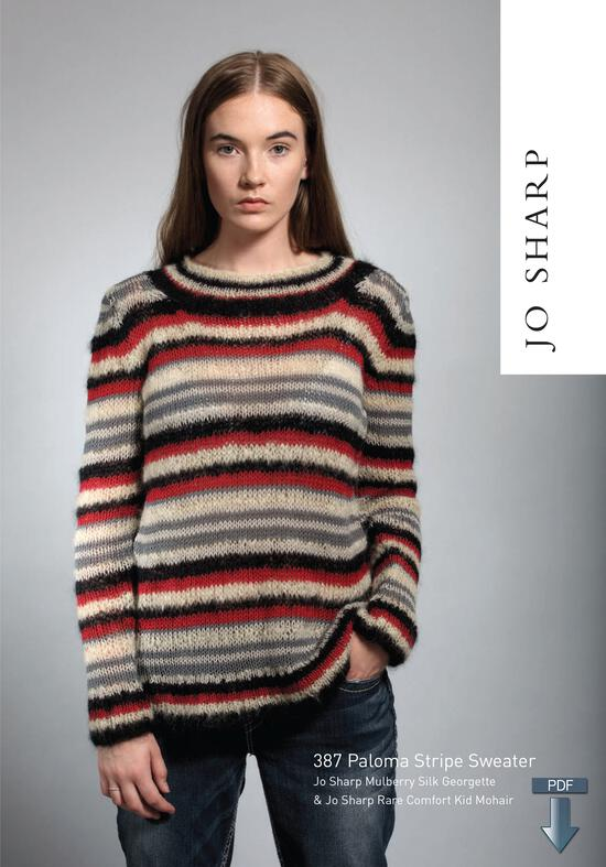 Knitting Patterns Jo Sharp Paloma Stripe Sweater - Pattern Download