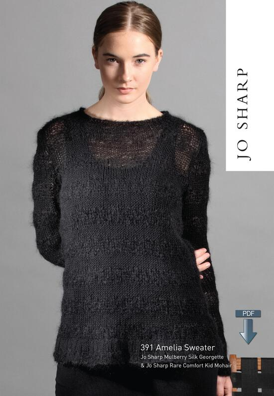 Knitting Patterns Jo Sharp Amelia Sweater - Pattern Download