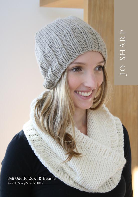 Knitting Patterns Jo Sharp Odette Cowl and Beanie - Pattern