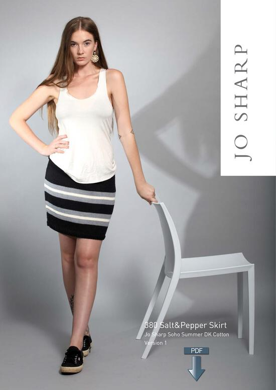 Knitting Patterns Jo Sharp Salt and Pepper Skirt - Pattern Download