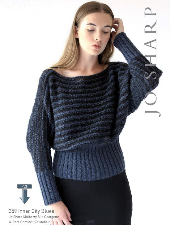 Knitting Patterns Jo Sharp Inner City Blues - Pattern Download