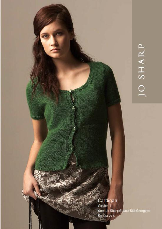 Knitting Patterns Jo Sharp Cardigan in Alpaca Kid Lustre Download Pattern