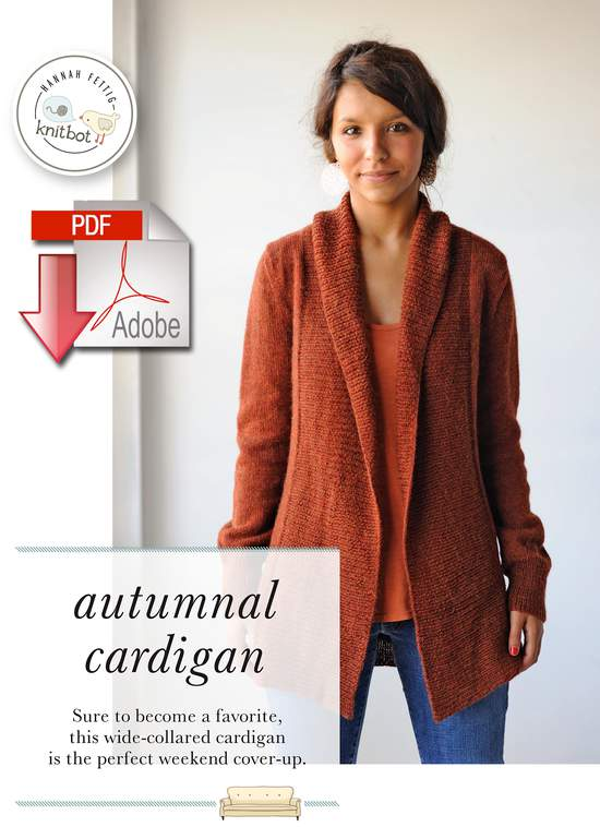 Knitting Patterns Knitbot Autumnal Cardigan  Pattern download