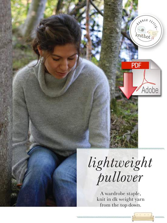Knitting Patterns Knitbot Lightweight Pullover  Pattern download