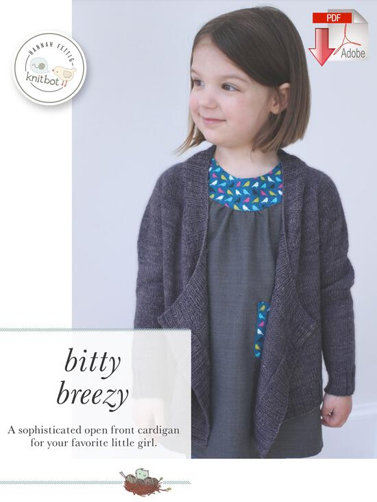 Knitting Patterns Knitbot Bitty Breezy Cardigan  Pattern download