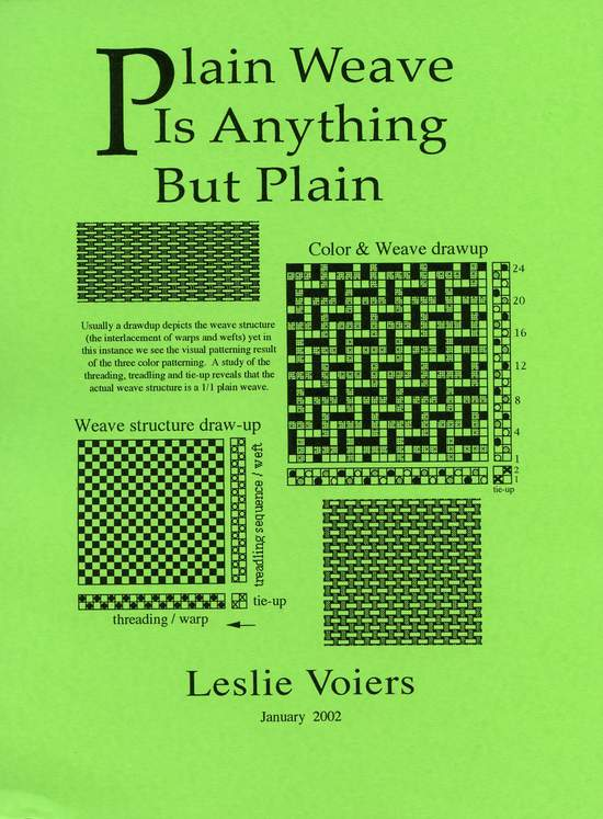 Weaving Books Plain Weave is Anything But Plain