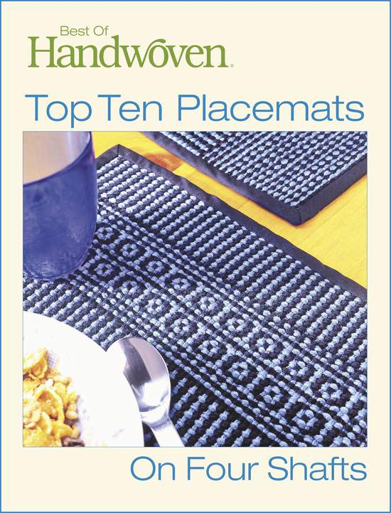 Weaving Books Best of Handwoven - Top Ten Placemats on Four Shafts -Handwoven eBook Printed Copy