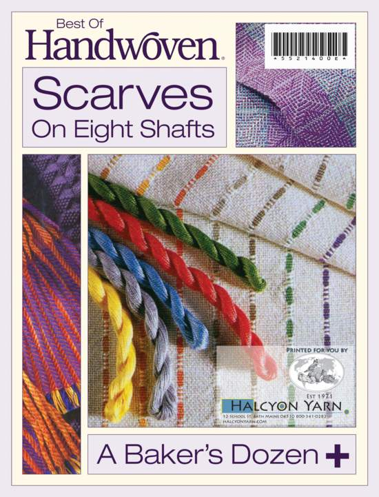 Weaving Books Best of Handwoven: Scarves on Eight Shafts -Handwoven eBook Printed Copy
