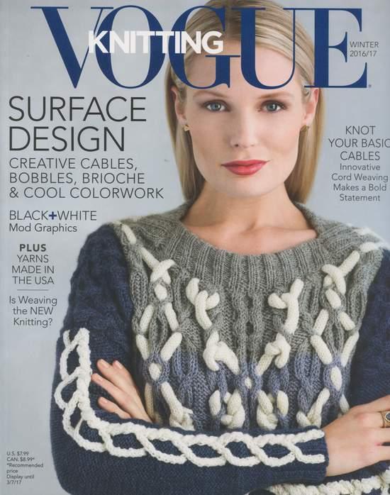 Vogue Knitting Winter 2016 : Knitting magazines halcyon yarn