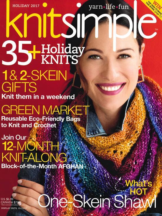 Knitting Magazines Knitsimple Holiday 2017