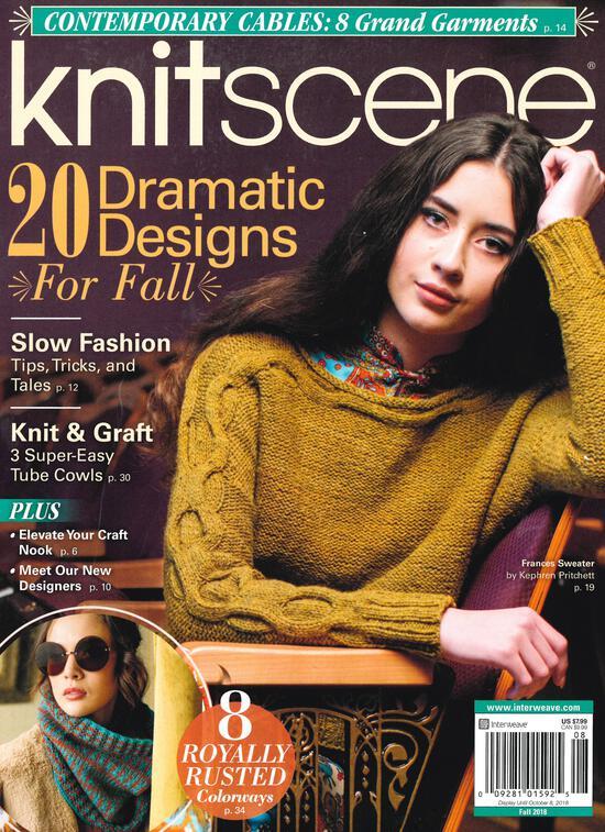 Knitting Magazines Knitscene Fall 2018