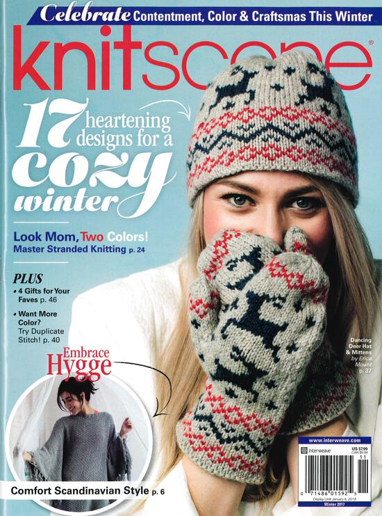 Knitting Magazines Knitscene Winter 2017