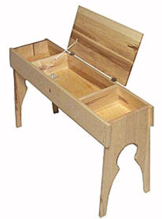 "Weaving Equipment Leclerc Open End Loom Bench 26"" x 44"""