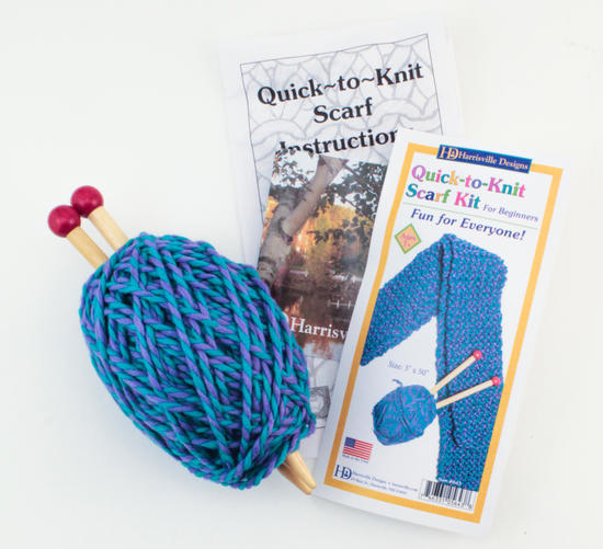 Knitting Kits Quick-to-Knit Blue Kit