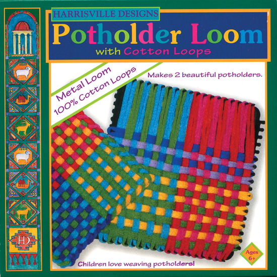 Weaving Equipment Harrisville Potholder Loom Kit - Cotton Loops (makes 2)