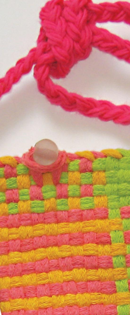 Multi-Craft Kits Potholder Purse Kit - Florescent