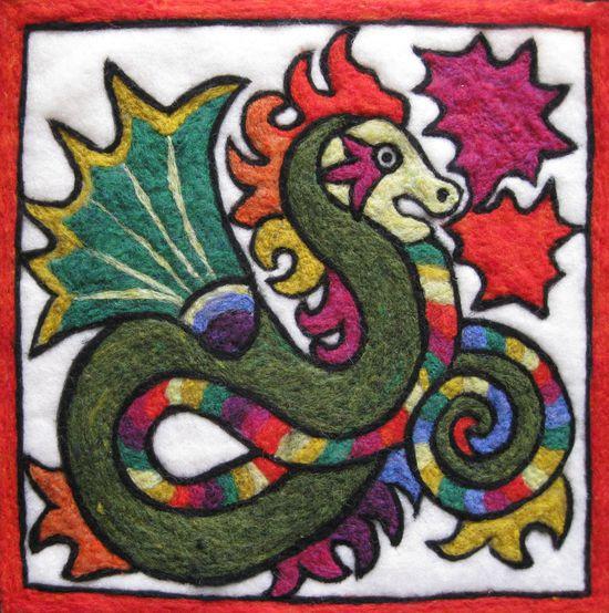 Felting Kits Chinese Dragon Needle Felting Kit
