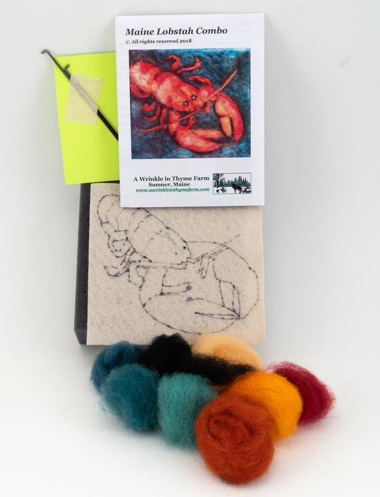 Felting Kits Lobster Tile Felting Kit (tools included)
