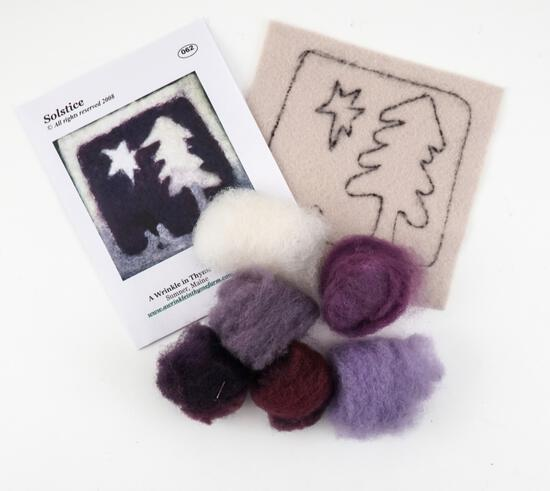 Felting Kits Solstice Tile Felting Kit