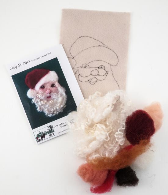 Felting Kits Jolly St. Nicholas Tile Felting Kit