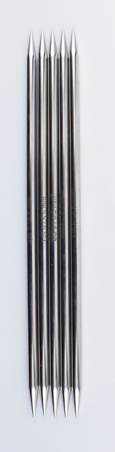 "Knitting Equipment NOVA Platina 8"" Double Point Size 9 Knitting Needles by Knitter's Pride"