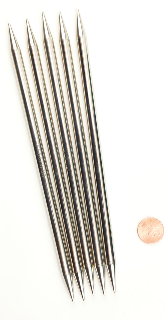 "Knitting Equipment NOVA Platina 8"" Double Point Size 11 Knitting Needles by Knitter's Pride"