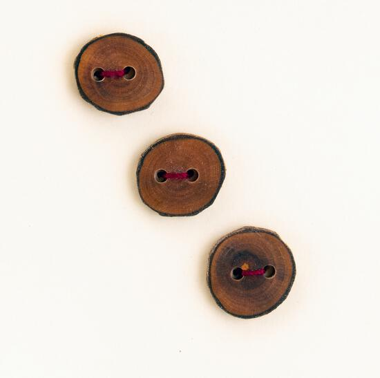 MultiCraft Equipment Three Small Round or Square Buttons  Mixed Woods