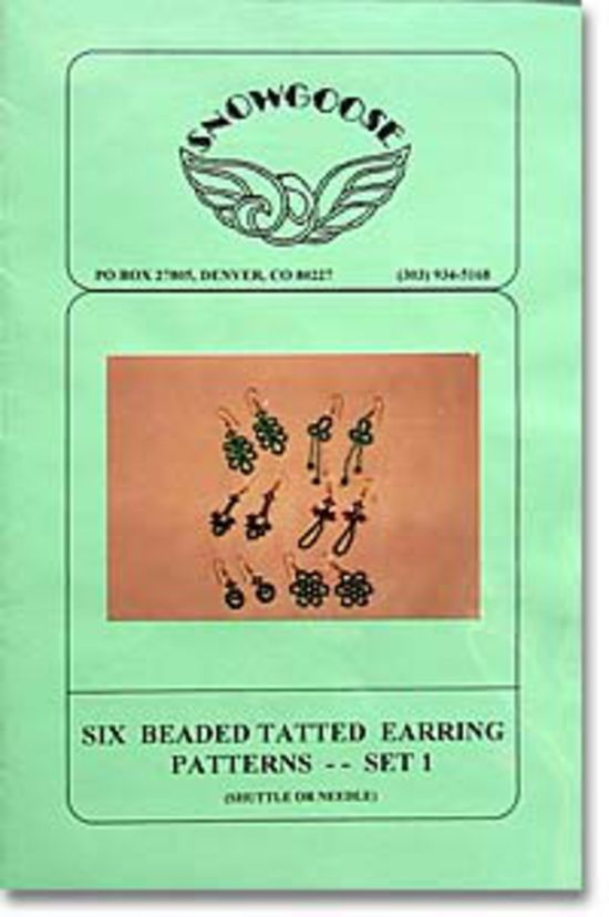 Bobbin Lace and Tatting patterns Beaded Tatted Earrings Set 1