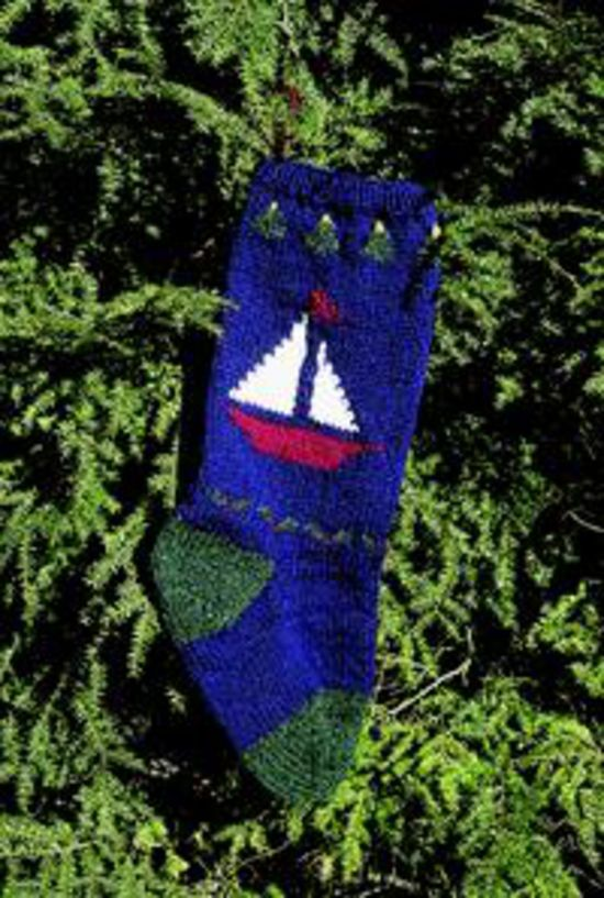 Knitting Kits Sailboat Christmas Stocking Kit