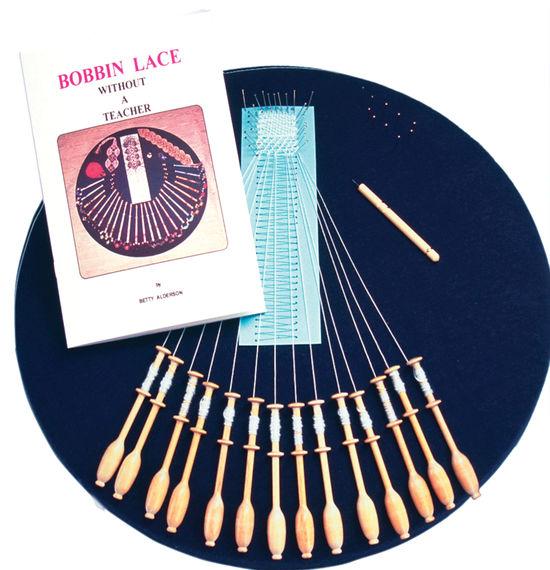 Bobbin Lace and Tatting kits Halcyon's Bobbin Lace Kit