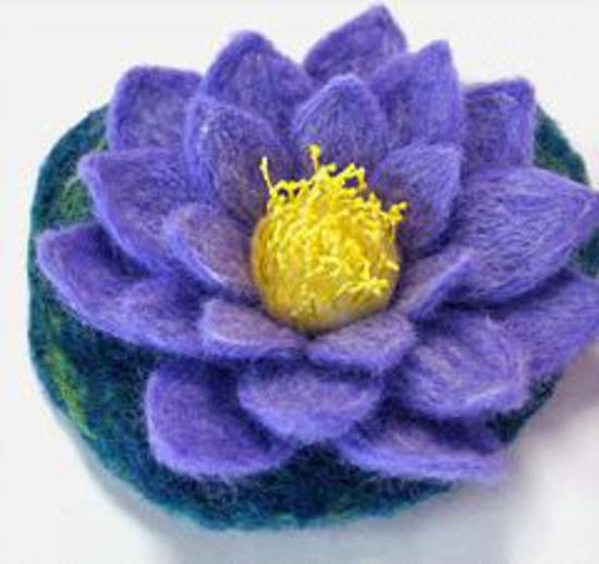 Felting patterns Water Lily Felting Pattern and Templates -