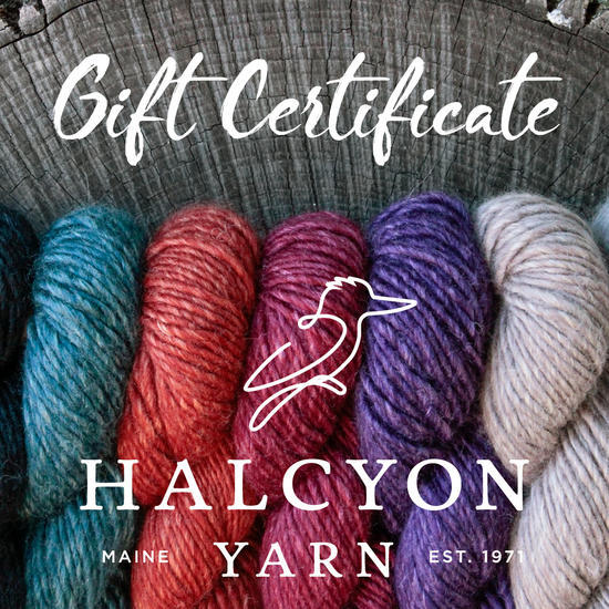 Equipment Halcyon Yarn Gift Certificate for $250.00