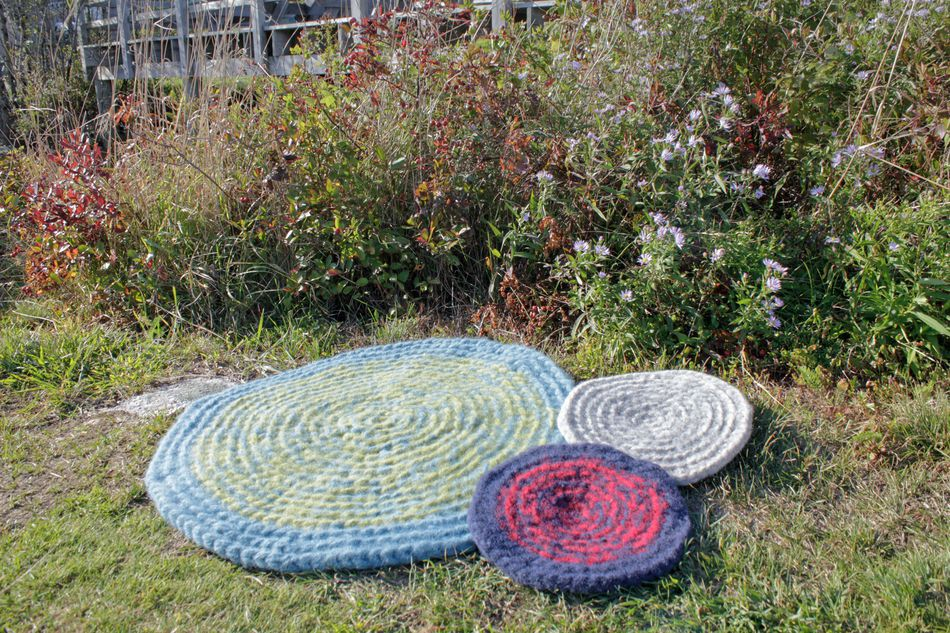 Crochet Patterns Wateraposs Edge Felted Crochet Rug  Seguin  Collection  Halcyon Classic Rug Wool