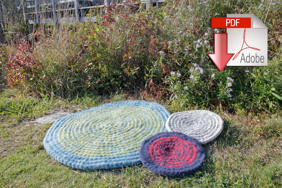 Waters Edge Felted Crochet Rug Seguin Collection Pattern