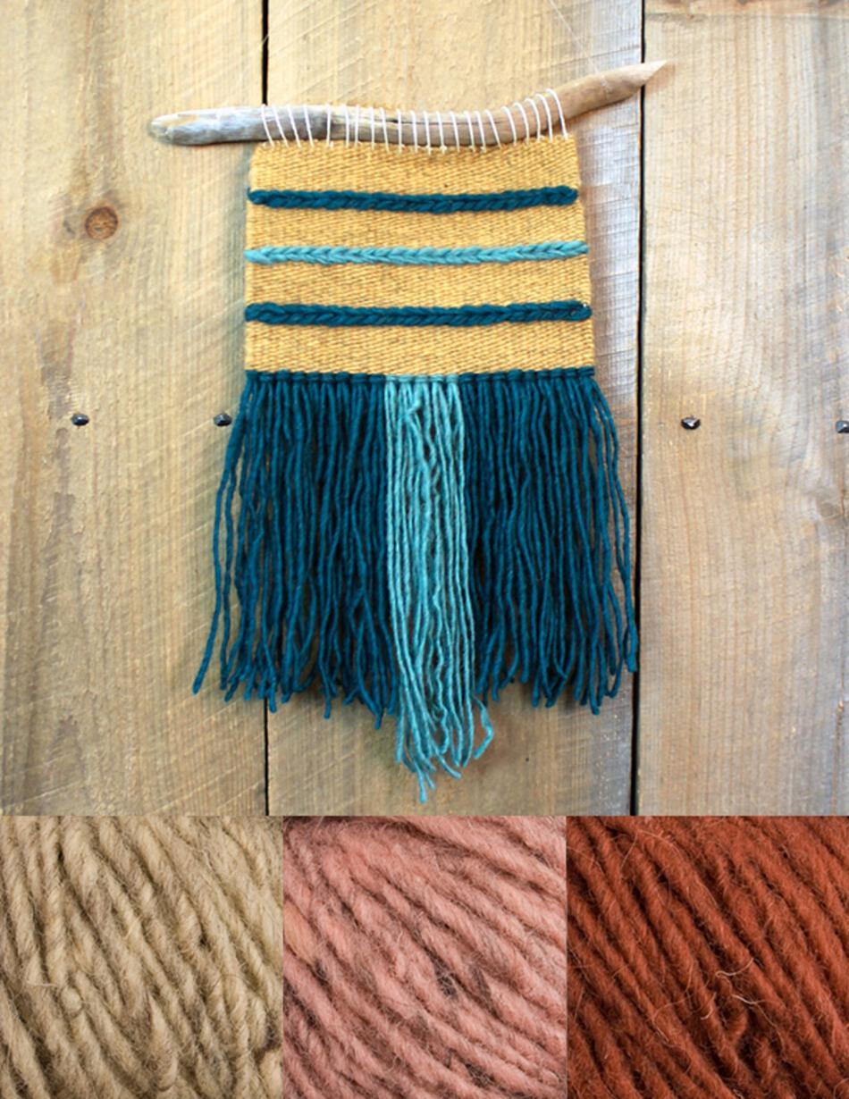 Wall Hanging Kit triple play wall hanging kit - rust, weaving kit - halcyon yarn