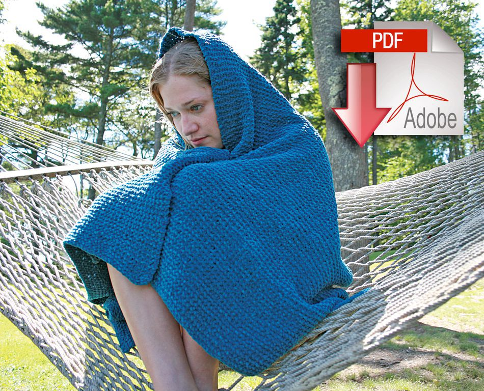 Casco Cottage Knitted Throw - Pattern download, Knitting Pattern - Halcyon Yarn