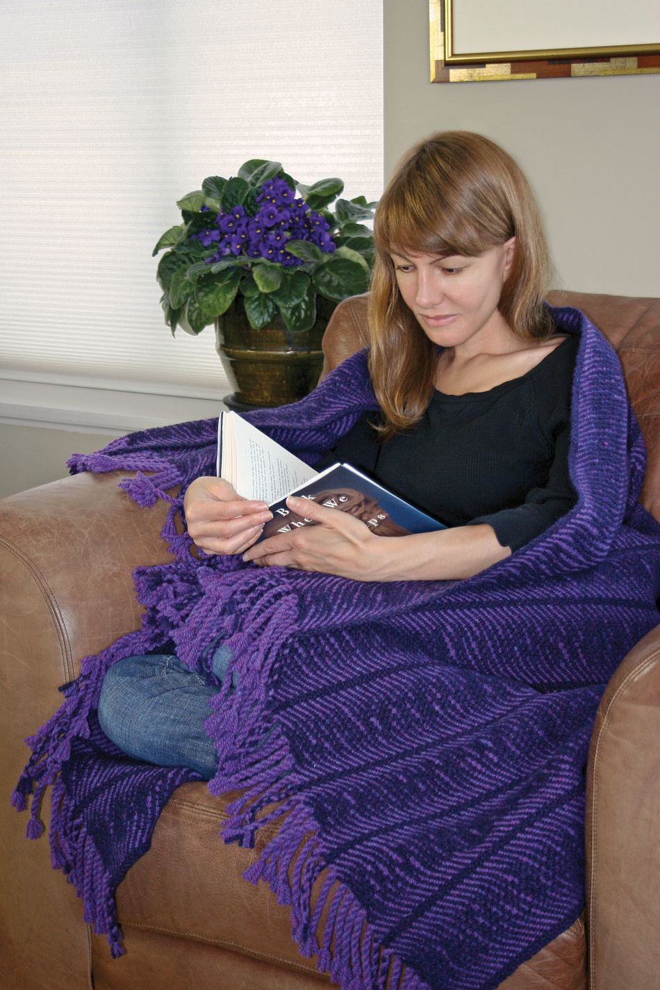 Weaving Patterns Undulating Waves Woven Blanket  Harrisville 2Ply