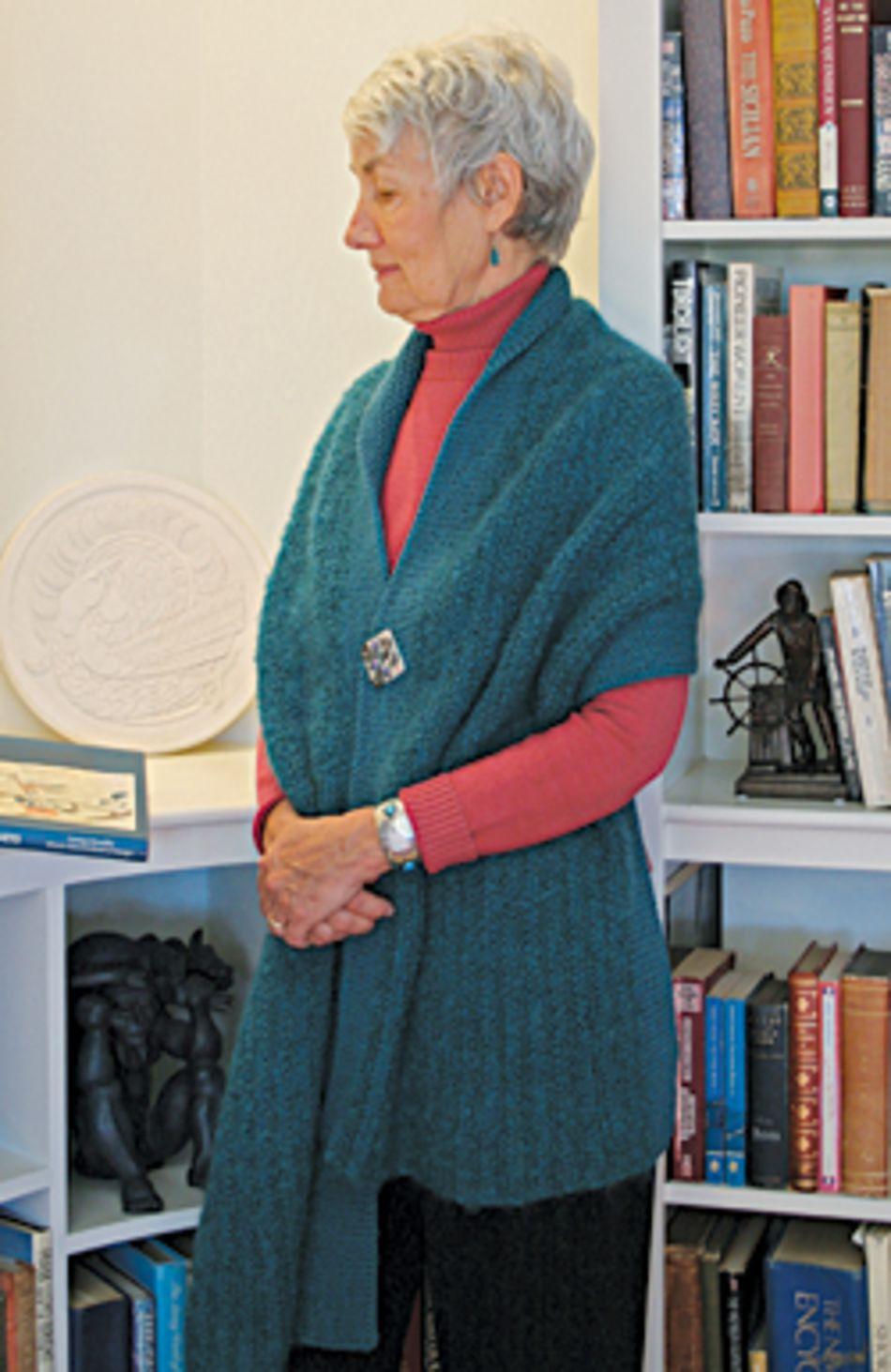 Asymmetrical 1 Button Wrap - Botanica and Boucle, Knitting Pattern ...