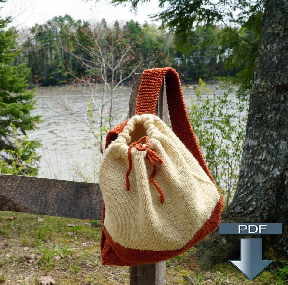Backpack Knitting Pattern : Auditorium - Knitted Backpack Pattern (Download), Knitting Pattern - Halcyon ...