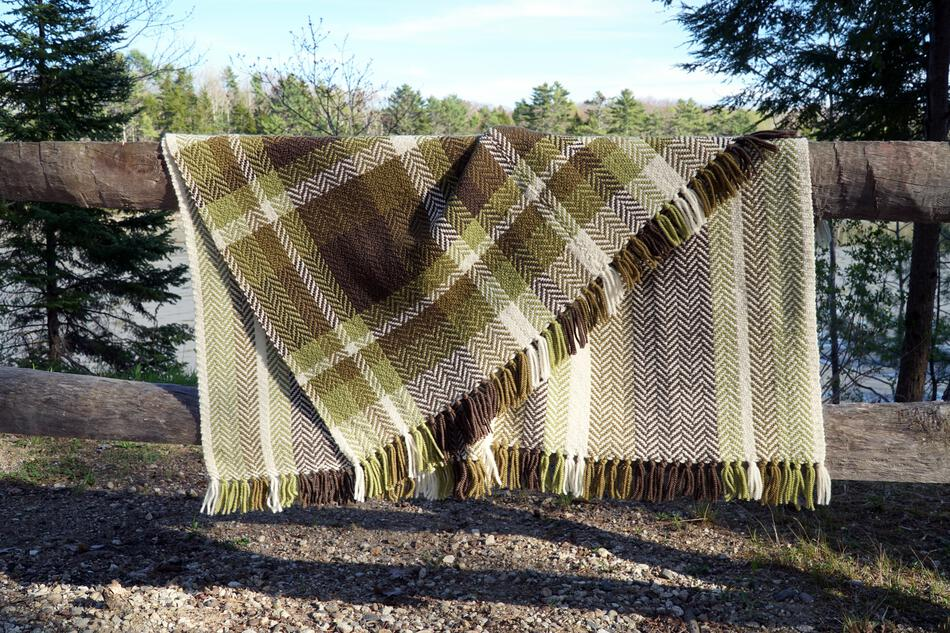 Weaving Patterns Chickadee Woven Blanket