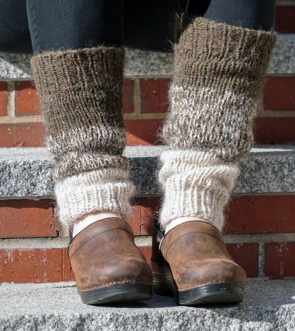 Down Home Special - Leg Warmer Pattern, Knitting Pattern - Halcyon Yarn