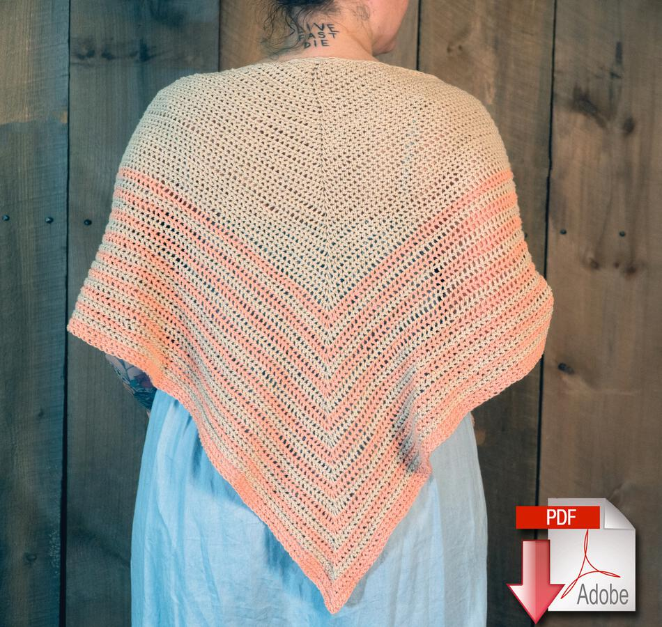 Crochet Patterns Waiting Room  Crocheted Shawl Pattern Download