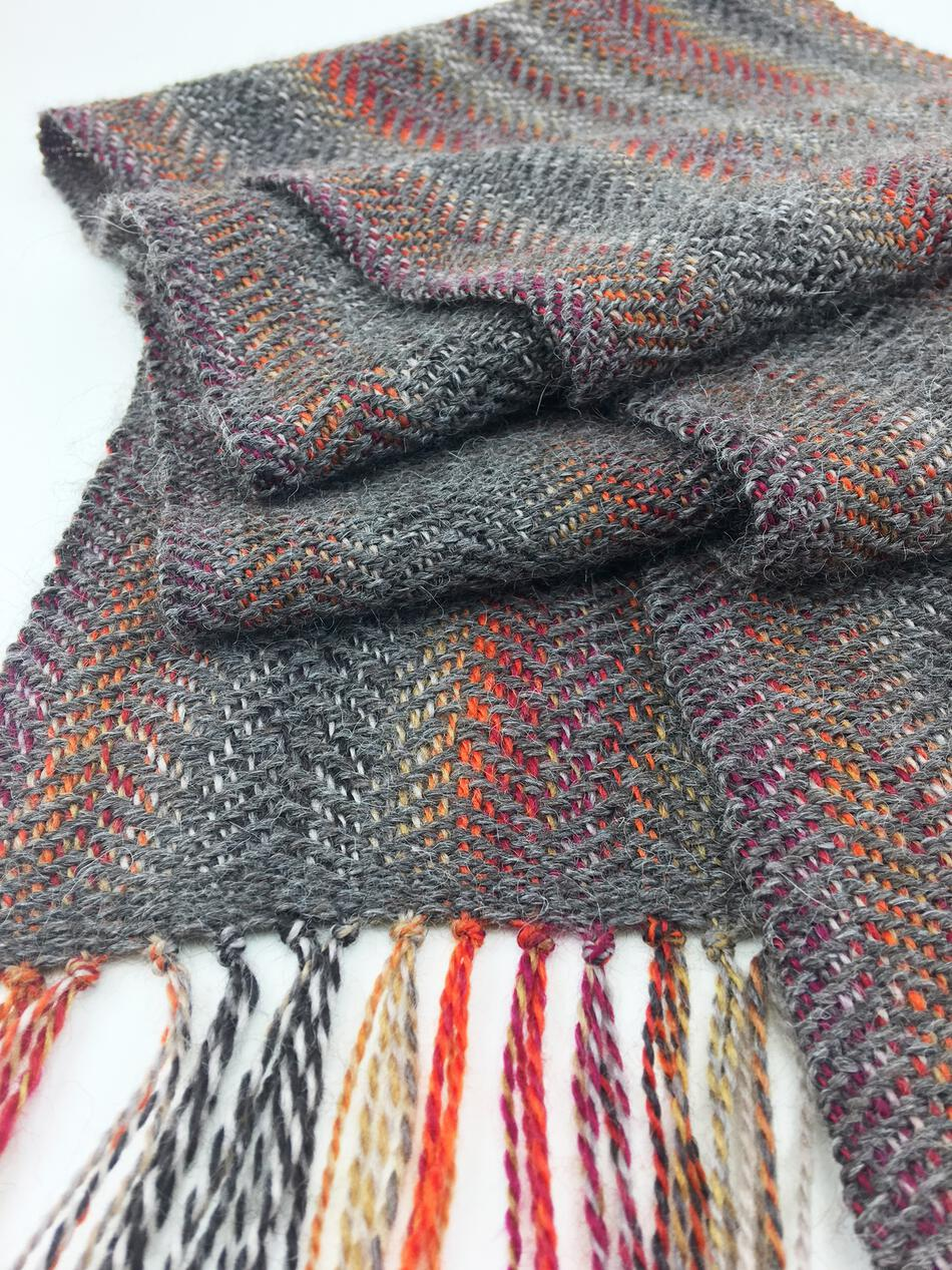 Weaving Patterns Oktoberfest  Woven Scarf