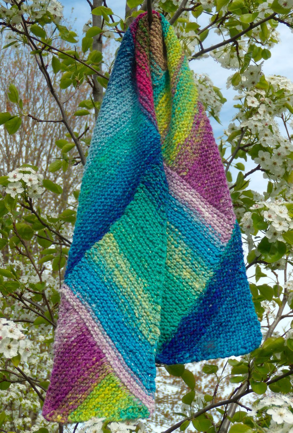 Multi-Directional Scarf - Noro Taiyo, Knitting Pattern ...