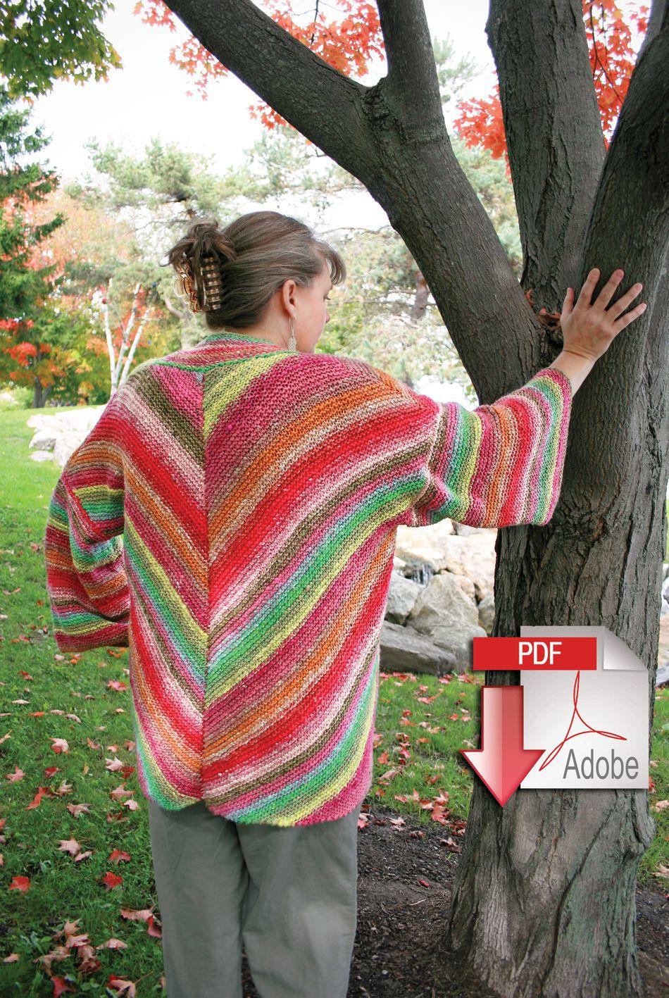 Knitting Kimono Pattern Free : Diagonal Kimono - Noro Taiyo - Pattern download, Knitting Pattern - Halcyon Yarn