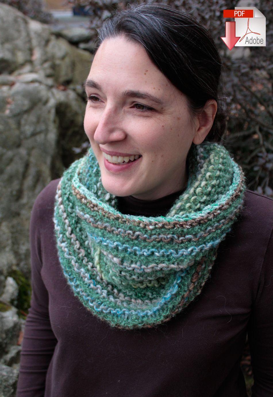 Transitions Cowl, Knitting Pattern - Halcyon Yarn