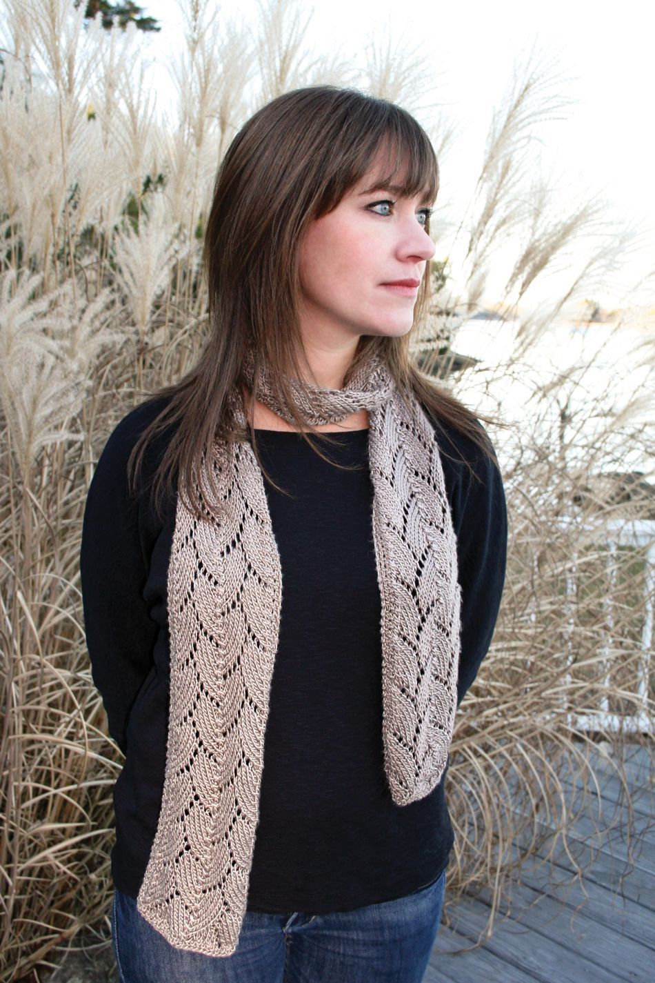 Knitting Patterns Shell Lace Scarf