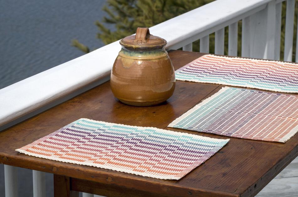 Weaving Patterns Lovely Day Rep Weave Placemats  Download