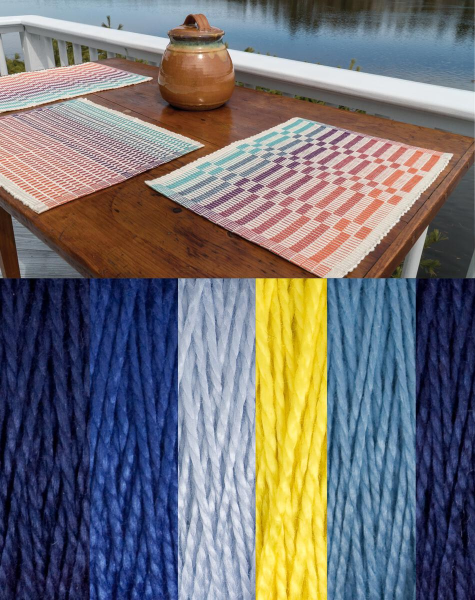 Weaving Kits Lovely Day Rep Weave Kit Color Glacier  Dark Blue