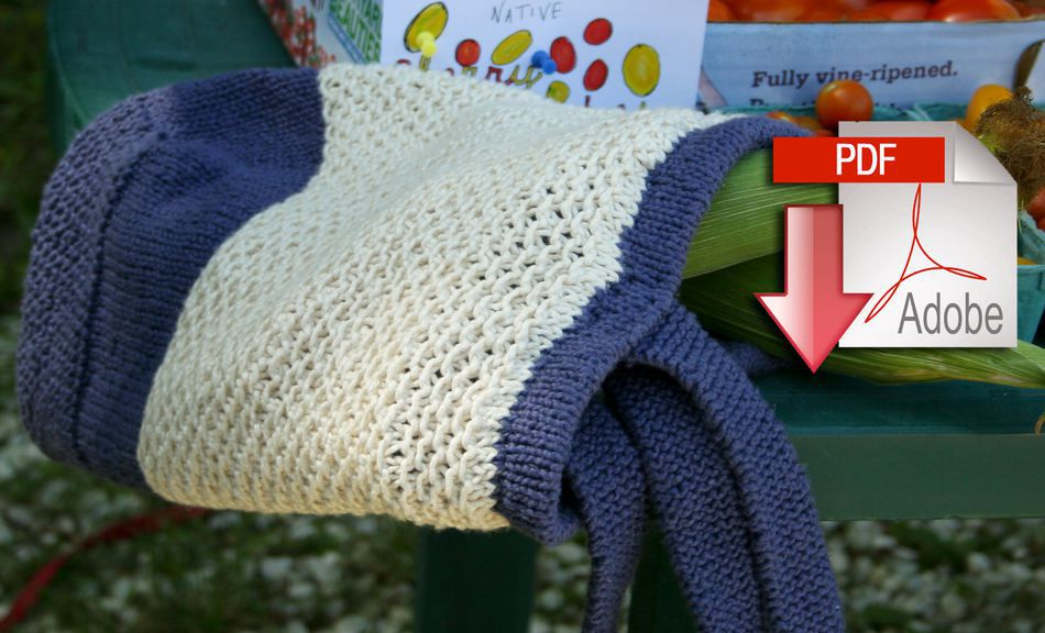 Knitting Patterns Casco Bay Tote  Casco Bay Worsted  Pattern download